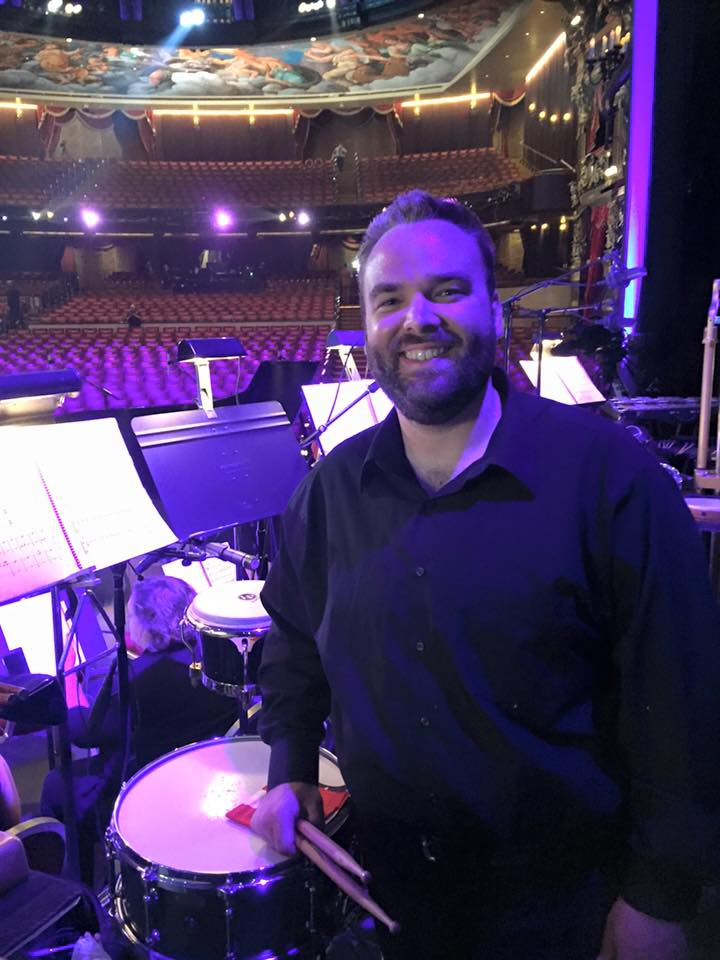 Getting ready to play some snare drum with the Video Games Orchestra playing Zelda at the Venetian Theater.