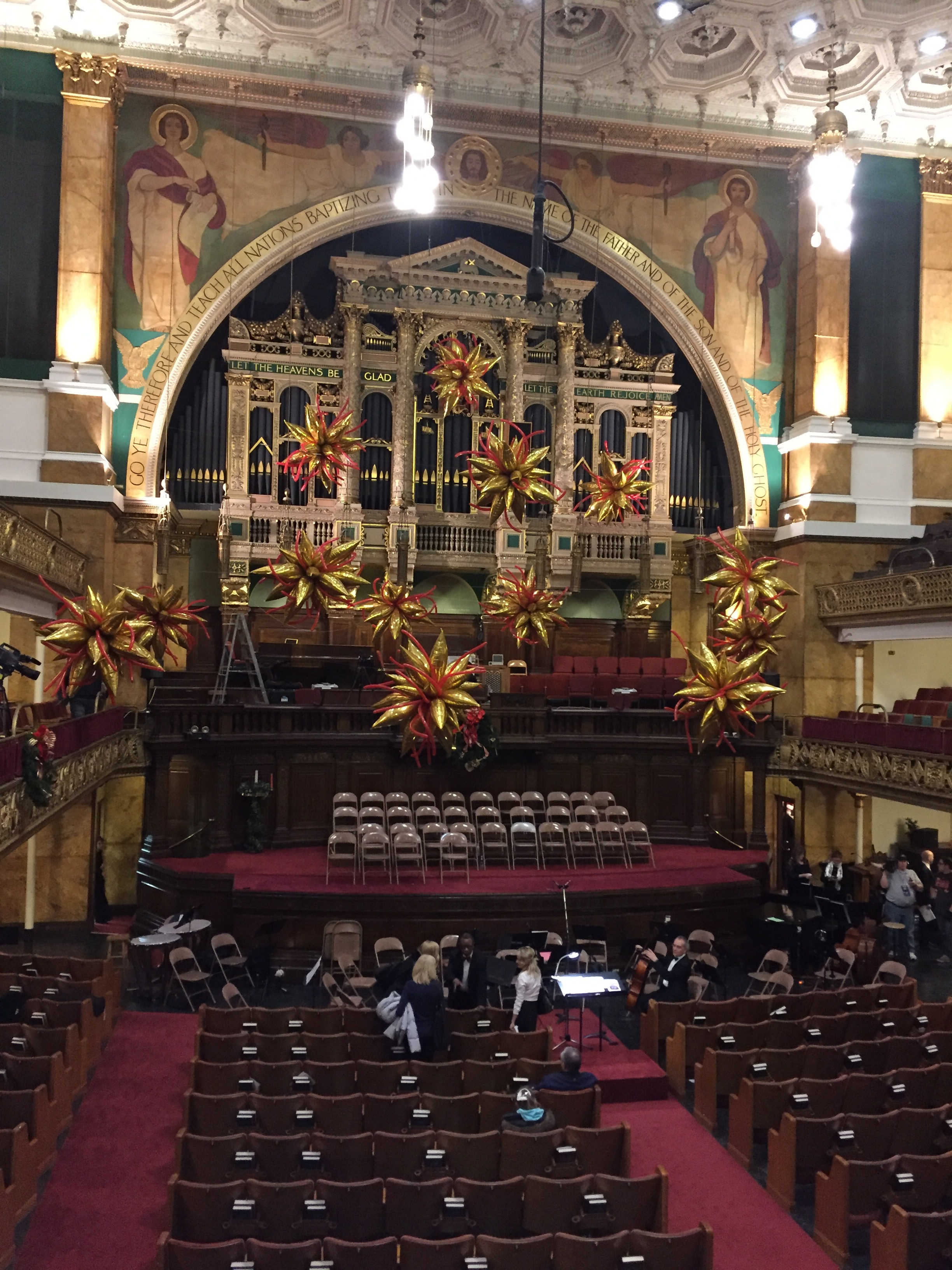 Playing timpani on Handel'S Messiah at Tremont Temple in Boston, MA.