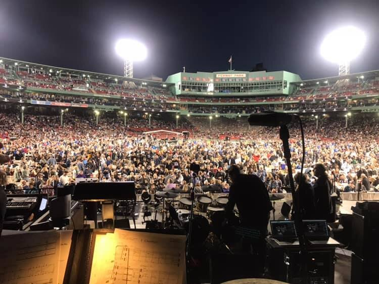 The Who Crowd at Fenway Park. Performing for 40,000 people!