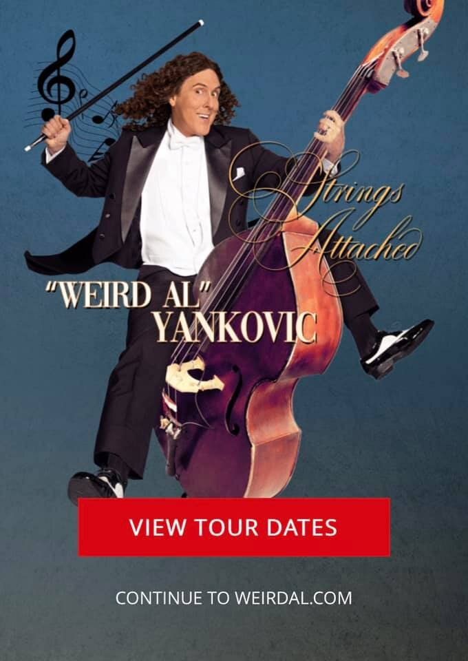 Weird Al 2019 New Hampshire, Boston and CT shows.