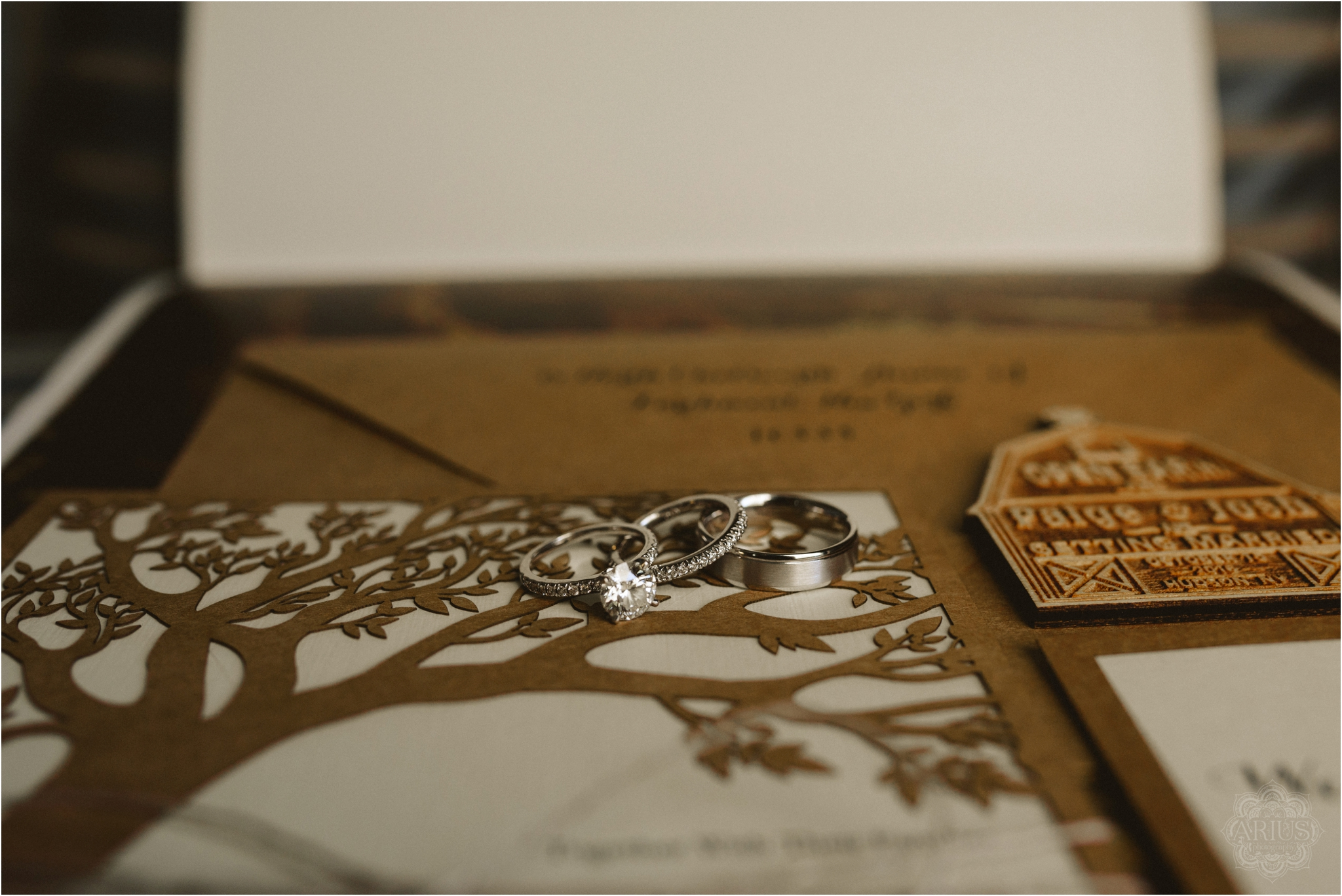 Wooden Tree Cut Out Wedding Invitation