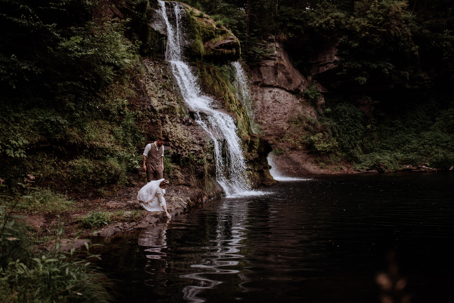 Shinglekill Falls Wedding with Boho Vintage vibe as documented b