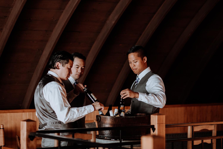 groomsmen at red maple vineyard wedding