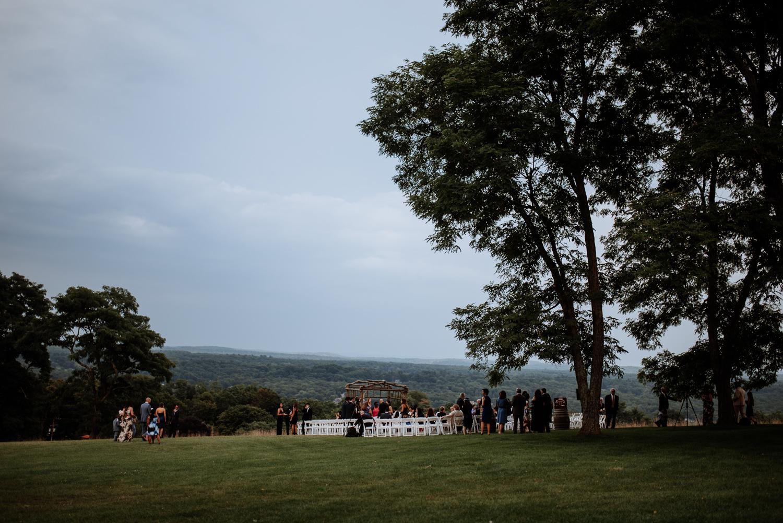 Outdoor ceremony space in new york vineyard