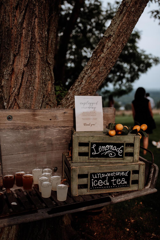 Red Maple Vineyard ceremony lemonade