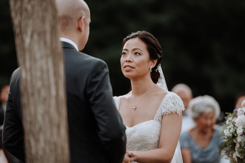 Red Maple Vineyard Wedding ceremony