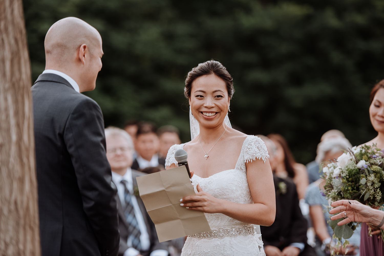 Red Maple Vineyard Wedding vows bride