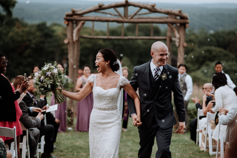 wedding ceremony bubbles