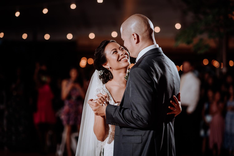 First Dance at Red Maple Vineyard Wedding