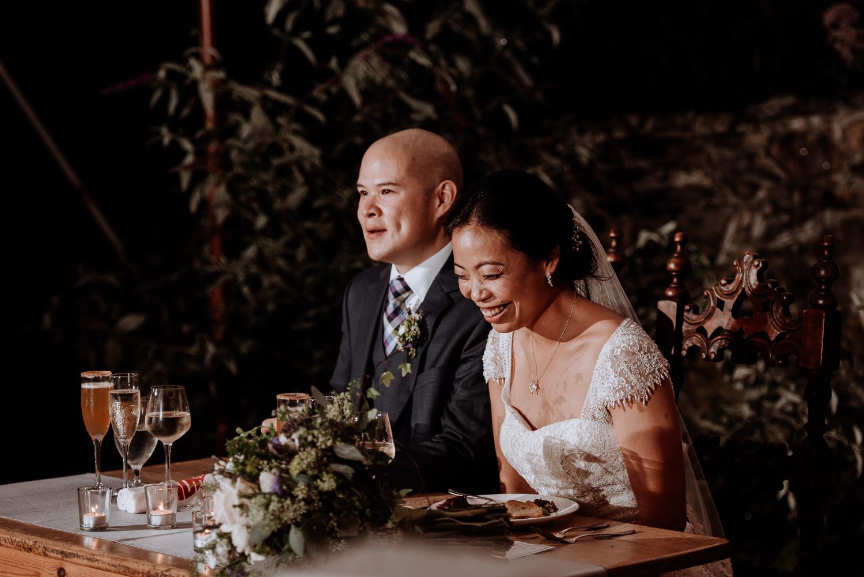 Red Maple Vineyard Wedding reception