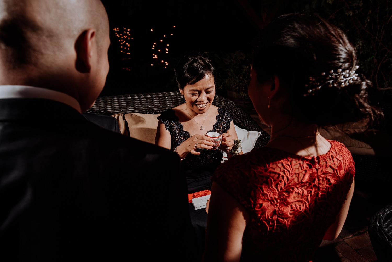 Japanese tea ceremony at red maple wedding