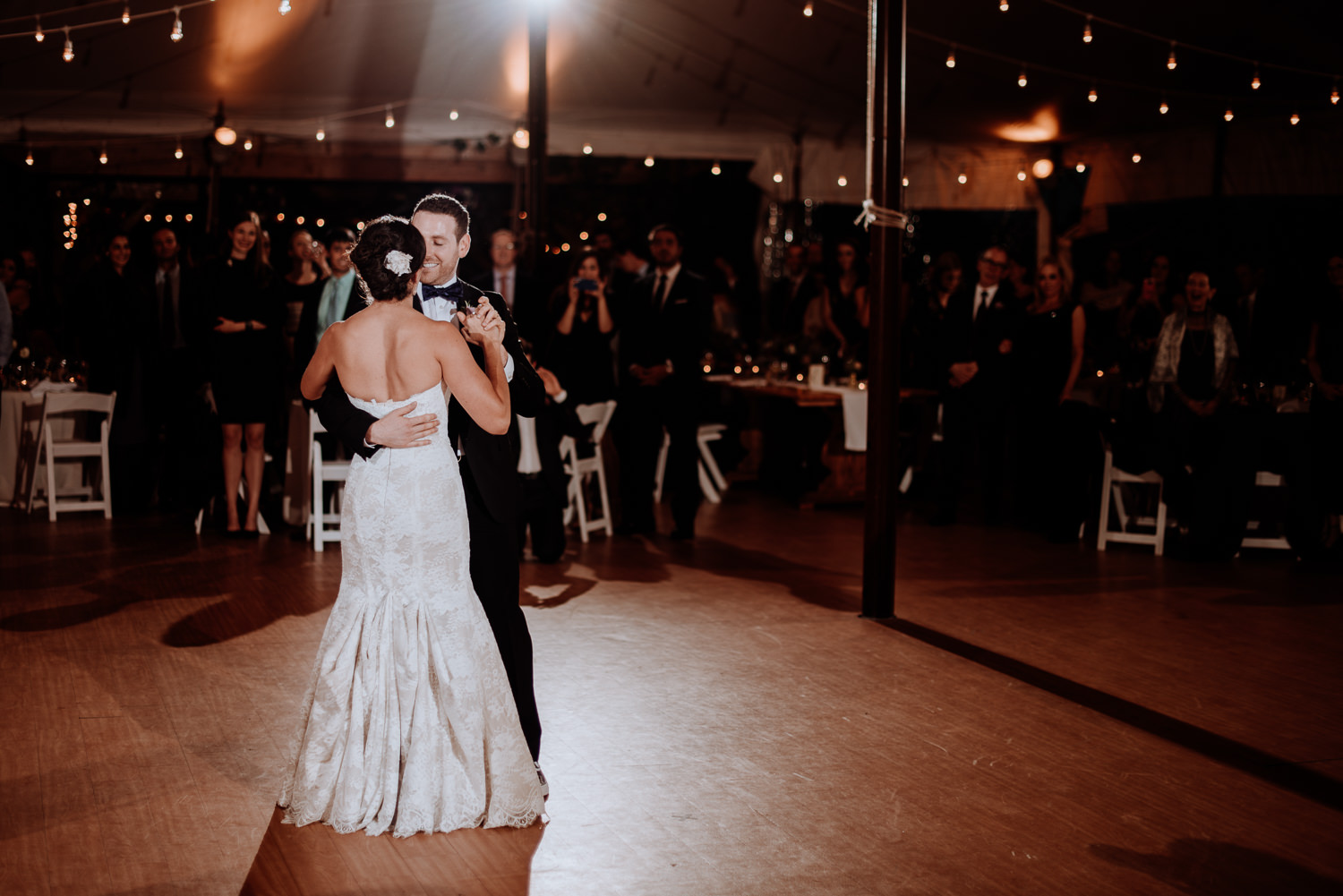 Red Maple Vineyard Wedding first dance