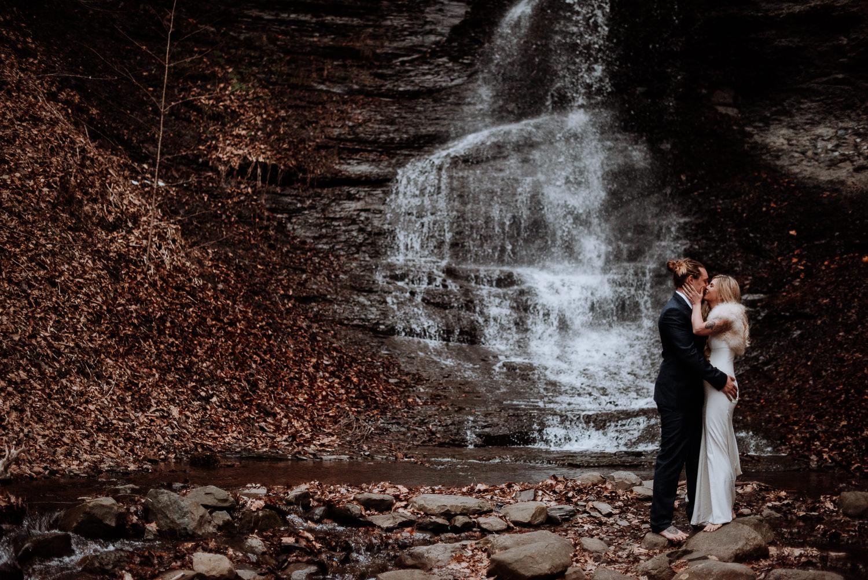 Outdoor Winter Wedding in NY
