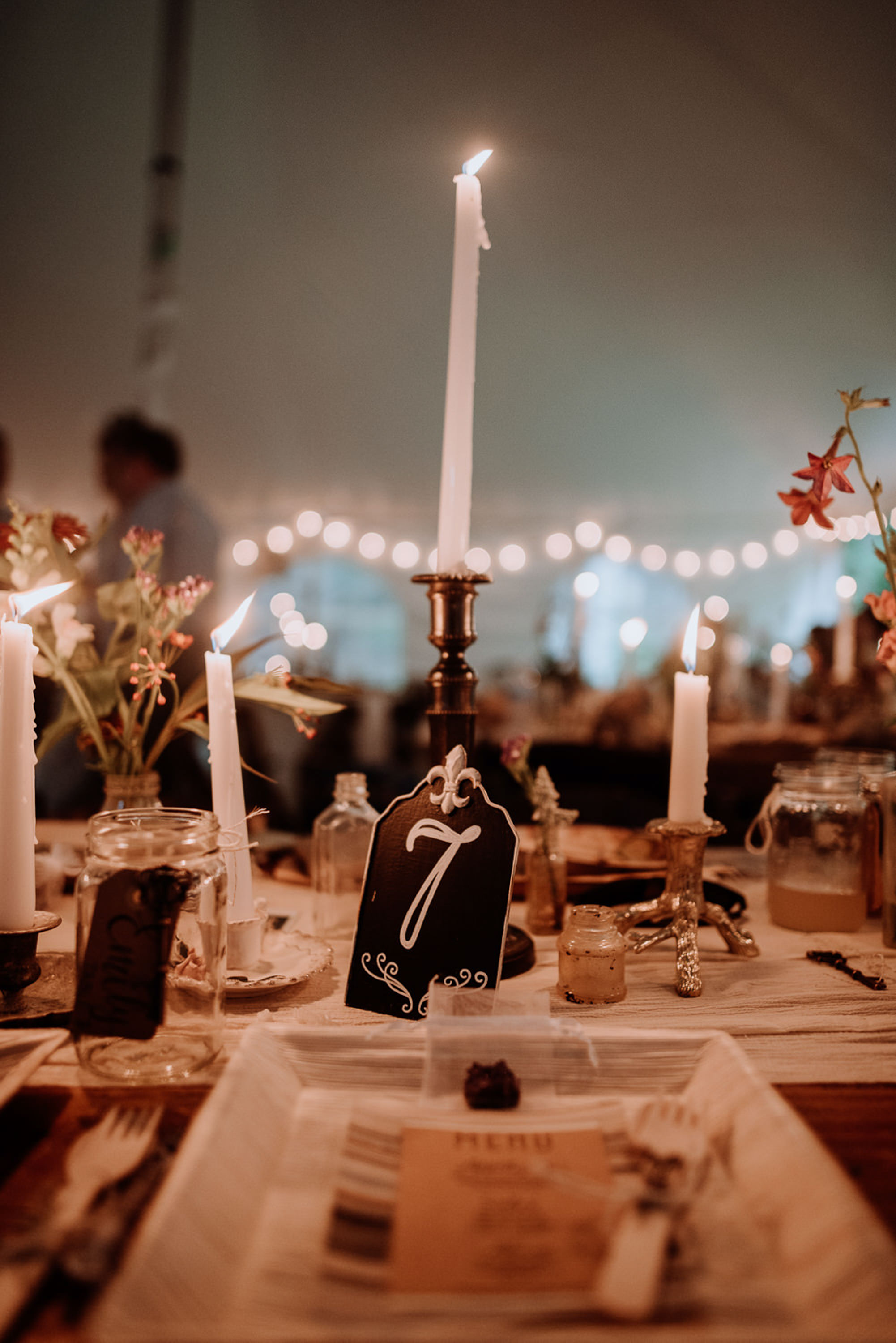 Vintage Catskills Wedding at Waterfall with unicorns and rustic