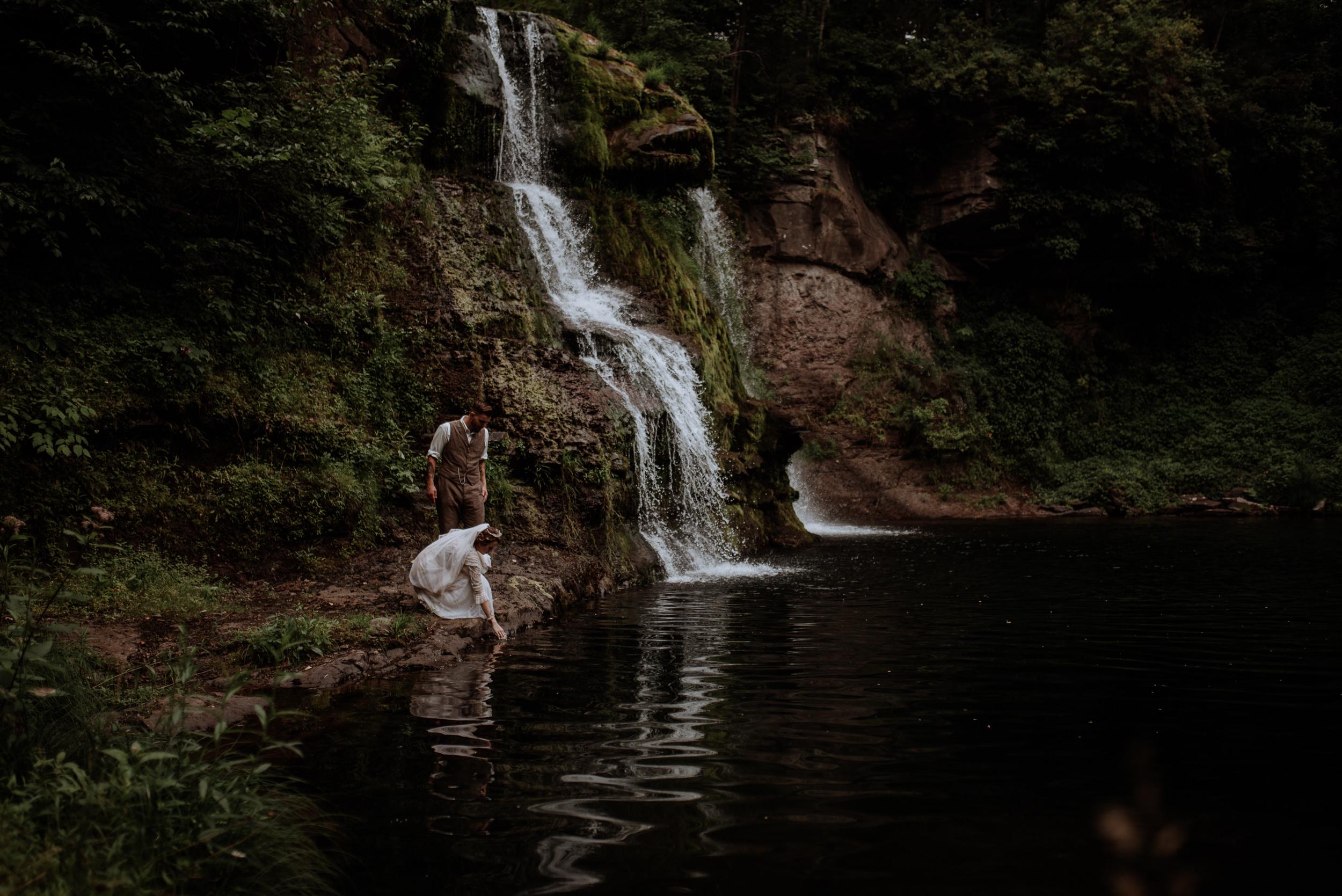 Catskill Wedding   Waterfall, forest, unicorns