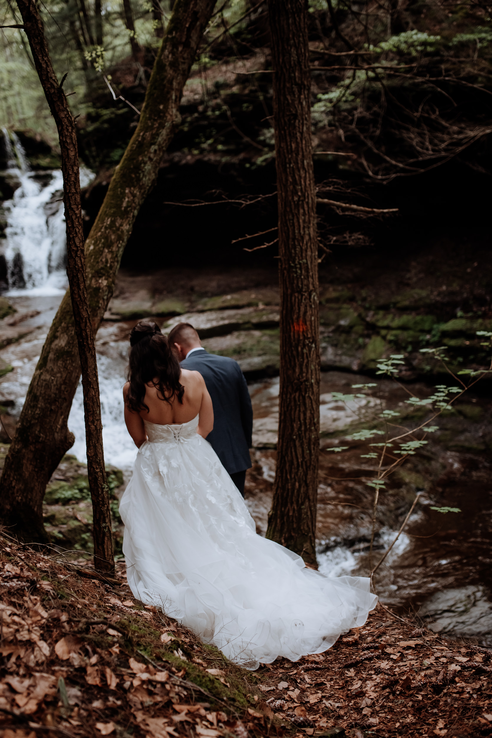 Catskills Wedding at Glen Falls House in Roundtop, Woodsy, Water