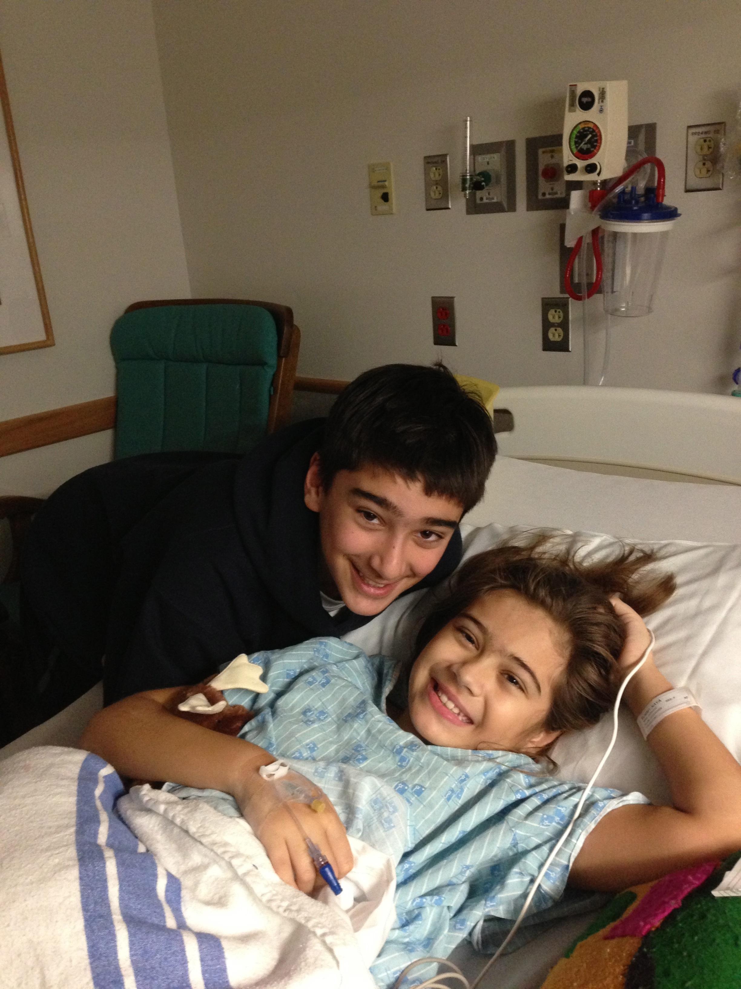 Zak visiting Naya the morning of her brain surgery