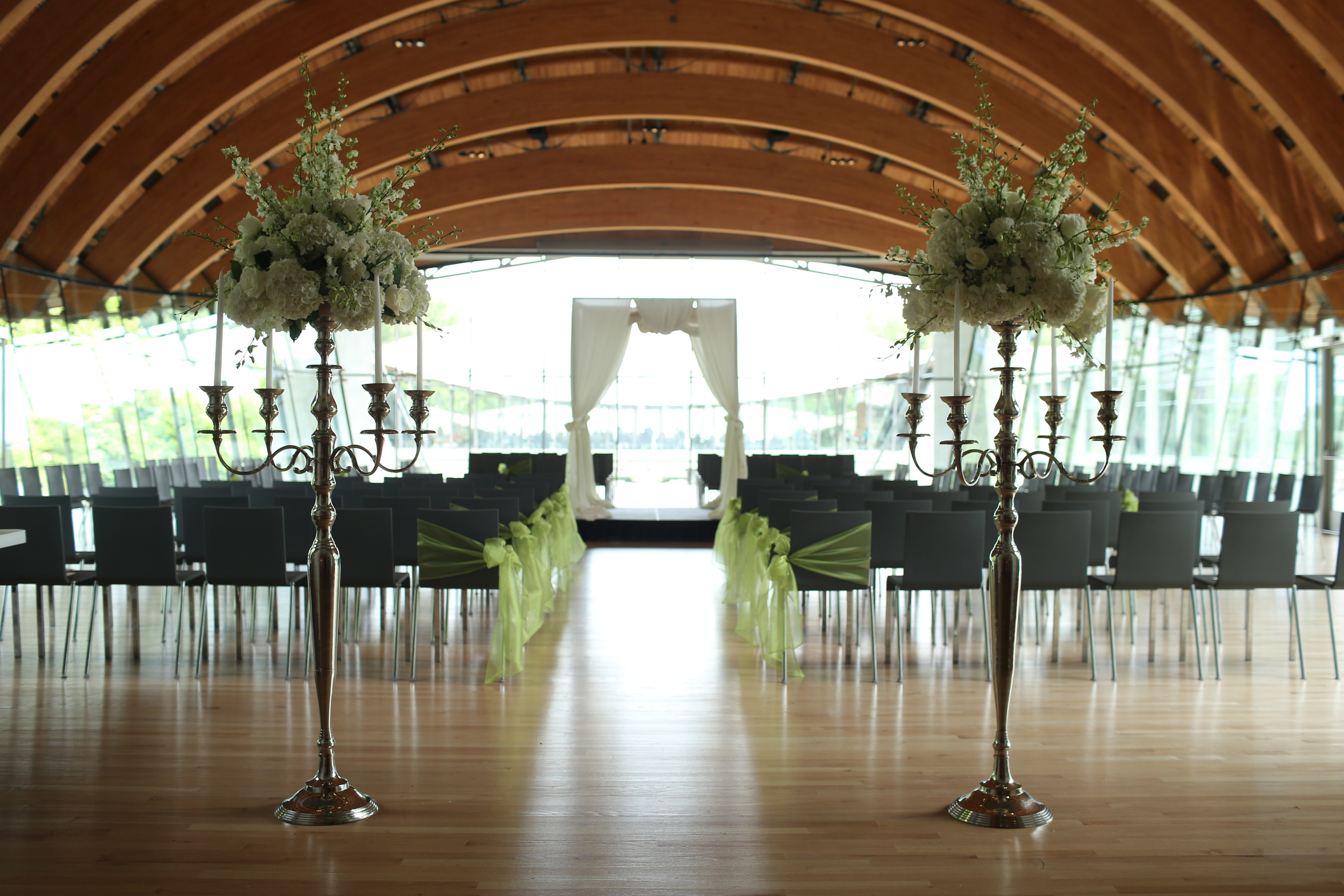 Cool Summer, Crystal Bridges Museum, Benfield Photography, Inspired Grace Weddings, Aisle Decor