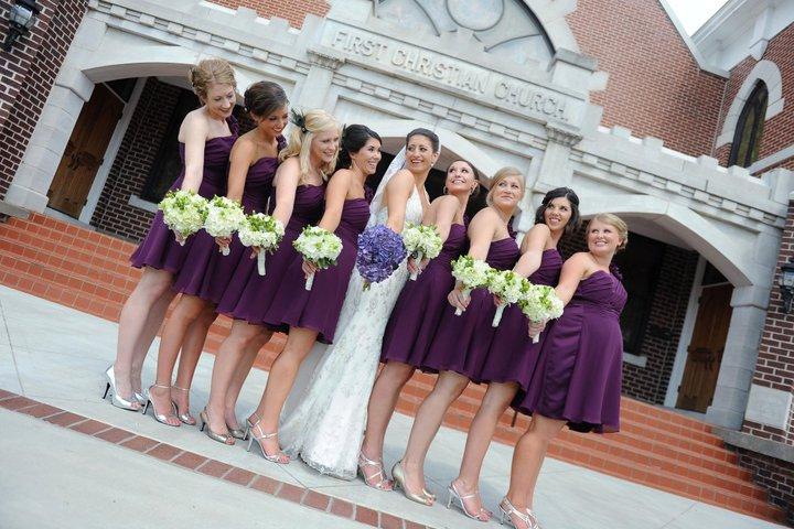 Peacock & Hydrangea Wedding, First Christian Church, Rachel Blackwell Photography, Weddings by Karie, bouquets