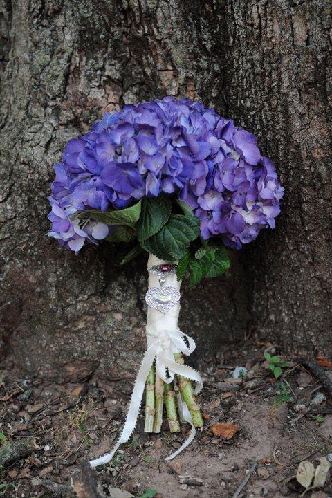 Peacock and Hydrangea Wedding, First Christian Church, Rachel Blackwell Photography, Weddings by Karie, Bouquet