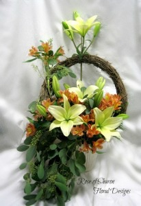 Lily wreath garden
