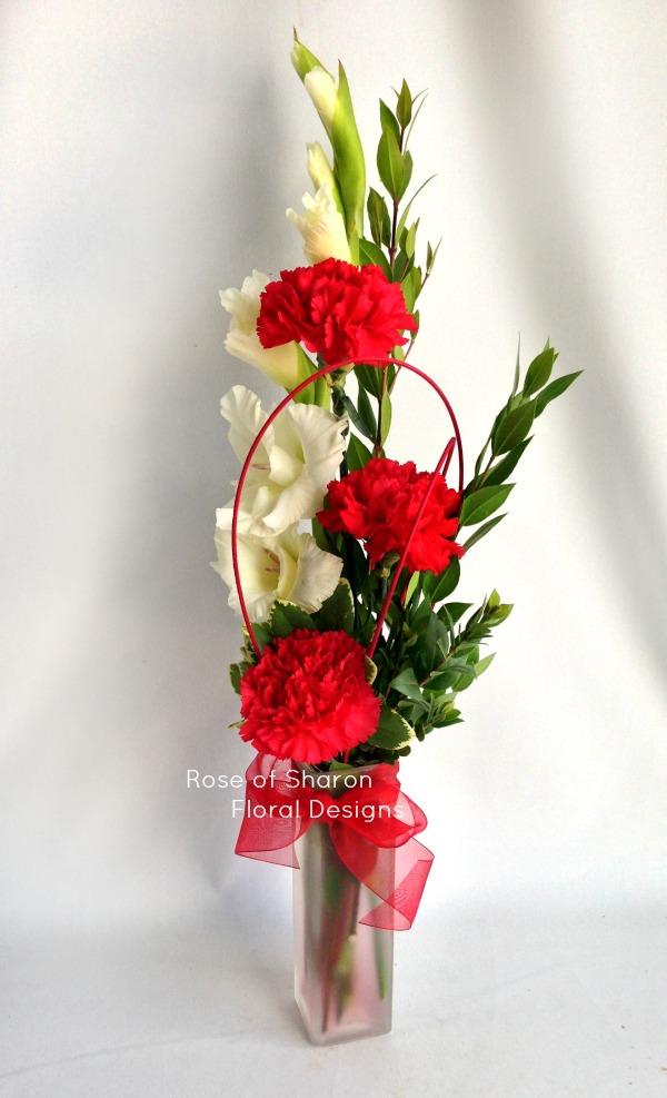 Carnations and Gladiolus, Rose of Sharon Floral Designs