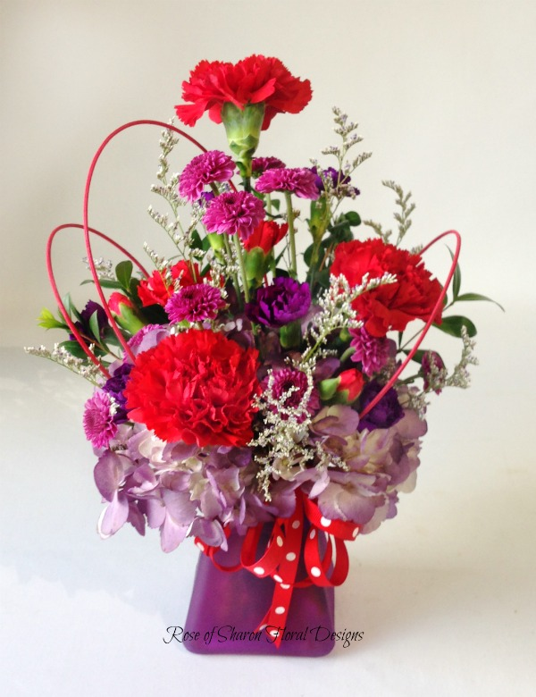 Carnations and Hydrangeas, Rose of Sharon Floral Designs