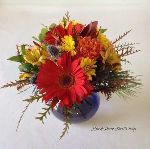 Alstroemeria, Carnations, Daisies and Eryngium, Rose of Sharon Floral Designs