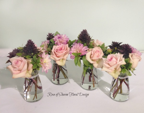Basil, Roses and Dahlias, Rose of Sharon Floral Designs