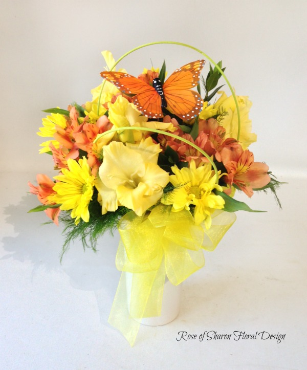 Alstroemeria, Daisies and Gladiolus, Rose of Sharon Floral Designs