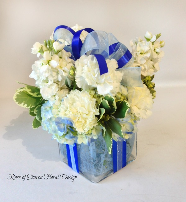 Gift of Carnations and Stock, Rose of Sharon Floral Designs
