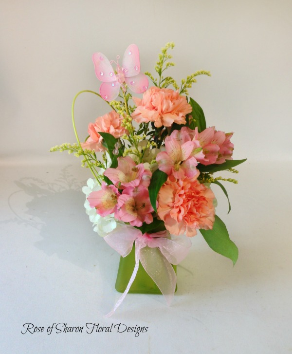 Hydrangea, Carnations and Alstroemeria, Rose of Sharon Floral Designs