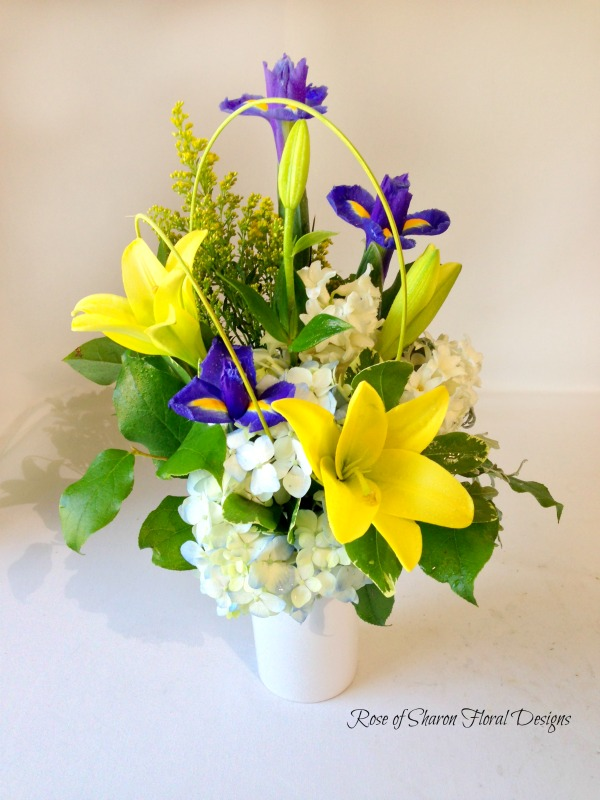 Hydrangeas, Irises and Lilies, Rose of Sharon Floral Designs
