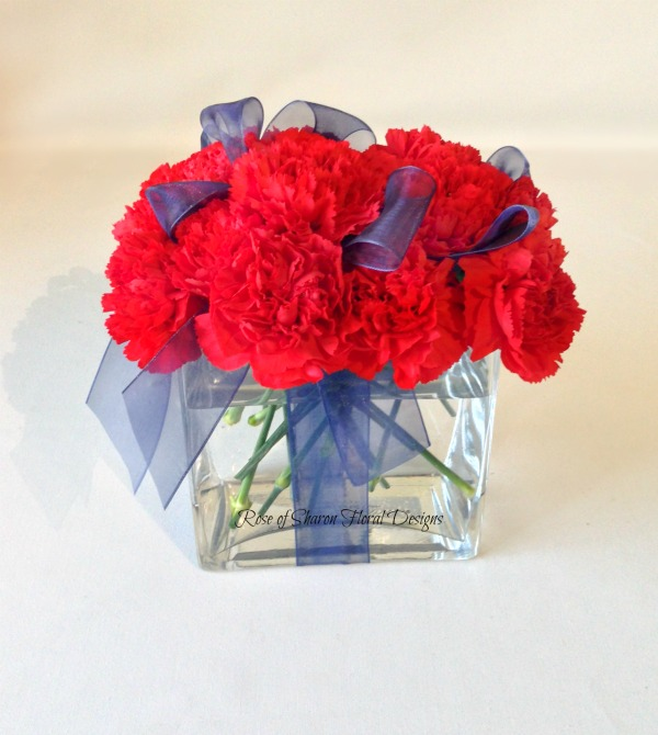 Gift Wrapped Carnations, Rose of Sharon Floral Designs