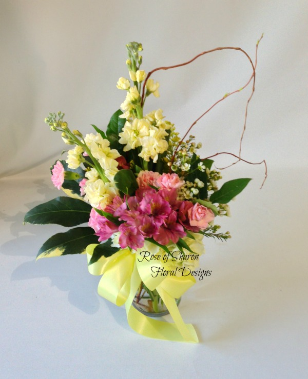 Garden Roses, Stock and Alstroemeria, Rose of Sharon Floral Designs