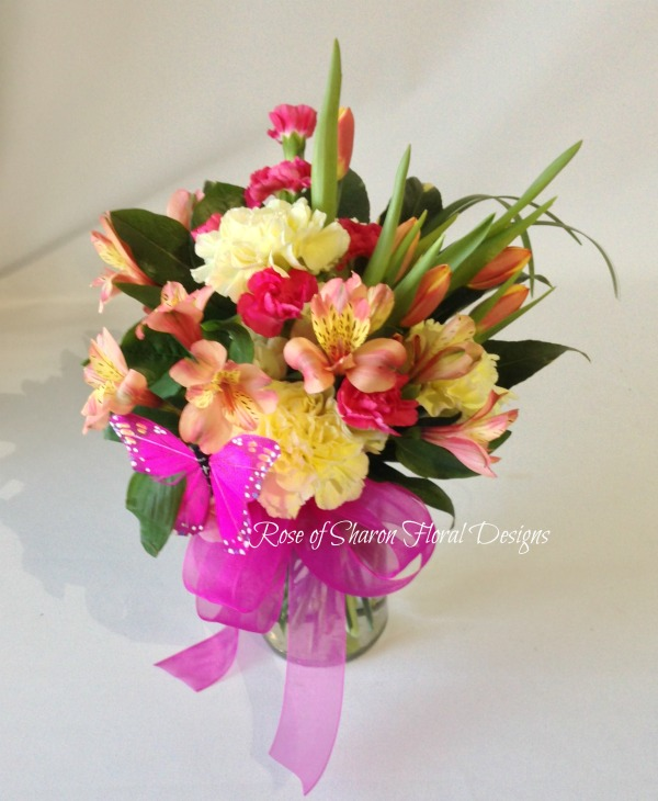Tulips, Carnations and Alstroemeria, Rose of Sharon Floral Designs
