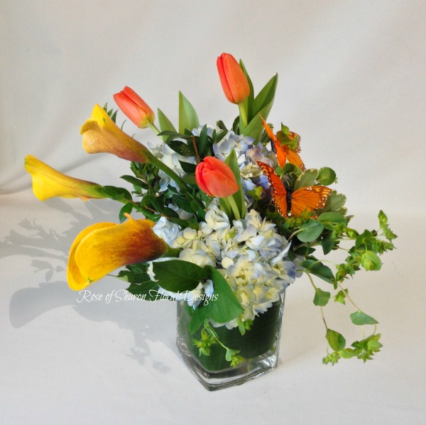 Hydrangea, Calla Lilies and Tulips, Rose of Sharon Floral Designs