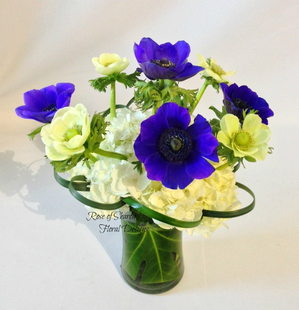 Hydrangea and Anemones, Rose of Sharon Floral Designs