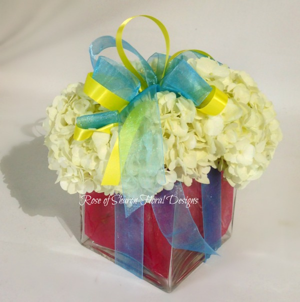 Gift of Hydrangeas, Rose of Sharon Floral Designs