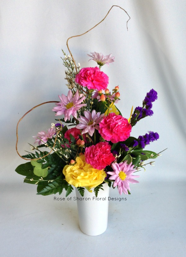 A Rose with Carnations and Daisies, Rose of Sharon Floral Designs