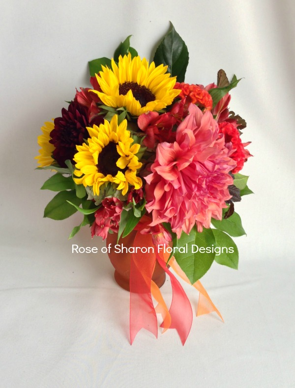 Sunflowers and Dahlias, Rose of Sharon Floral Designs