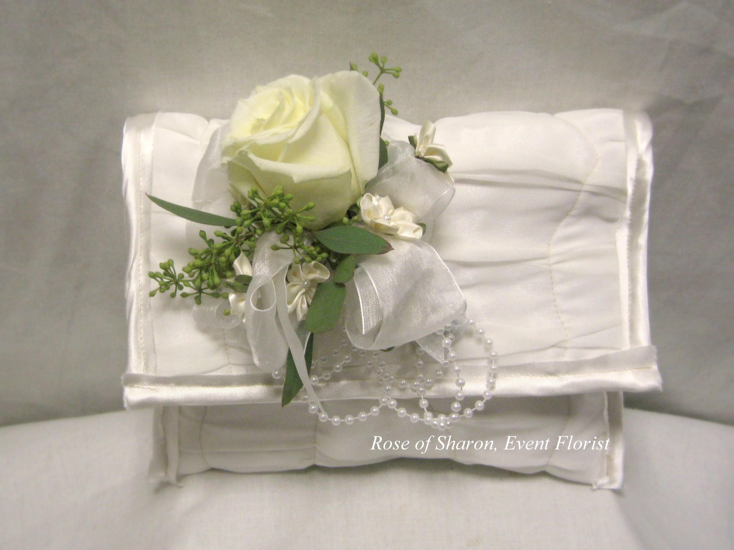 Rose Floral Clip on Clutch. Rose of Sharon Floral Designs