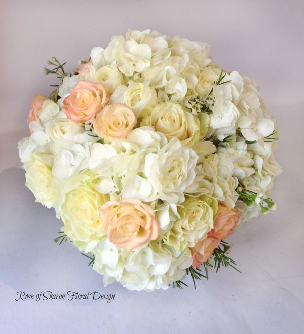 Hydrangea and Rose Bouquet, Rose of Sharon Floral Designs