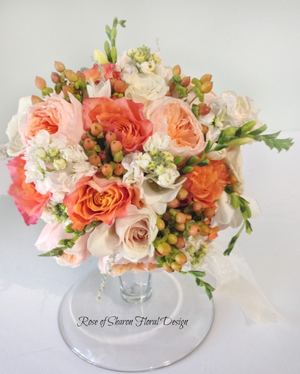 Rose Variety Bouquet with Stock and Hypericum Berries, Rose of Sharon Floral Designs
