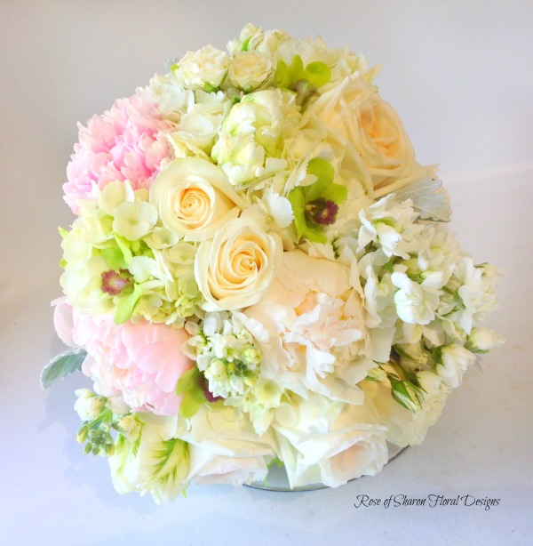 Spring Mix Bouquet featuring Orchids and Roses, Rose of Sharon Floral Designs