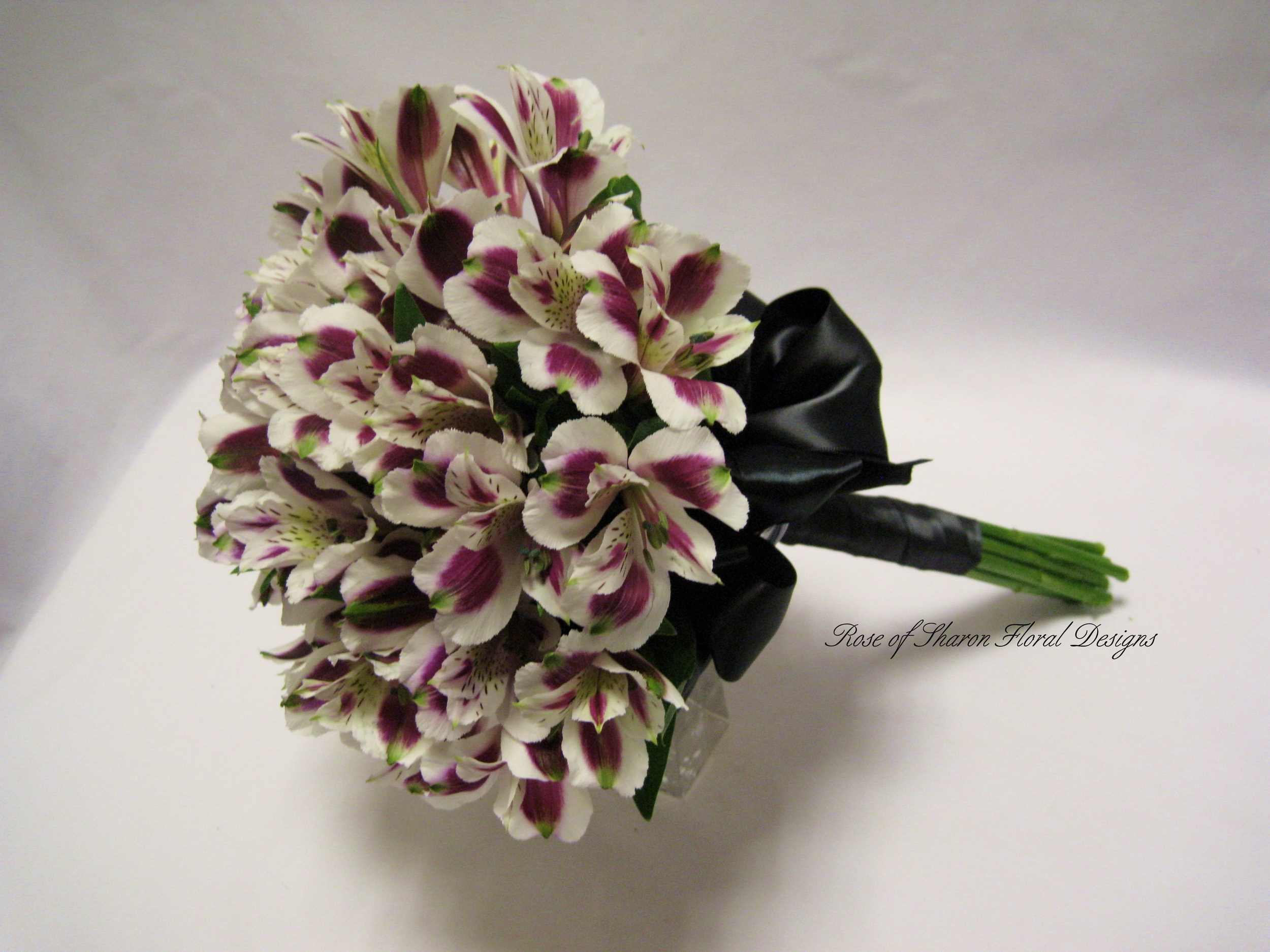 Alstroemeria Hand Tied Bouquet, Rose of Sharon Floral Designs