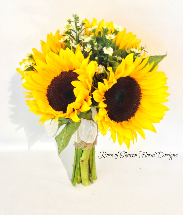 Sunflower and aster bouquet. Rose of Sharon Floral Designs