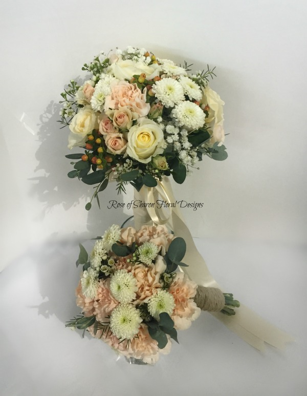 Hand-Tied Bouquets featuring Roses, Carnations, and Mums, Rose of Sharon Floral Designs