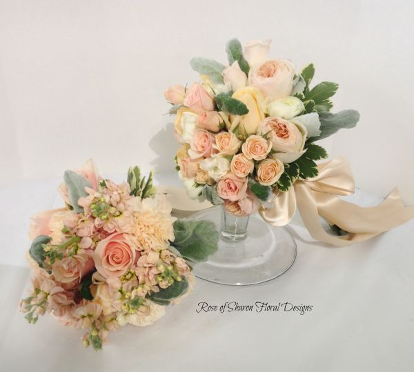 Hand-Tied Bouquets featuring Roses, Rose of Sharon Floral Designs