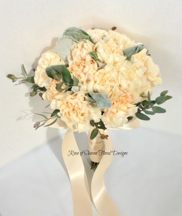 Hand-Tied Bouquet featuring Carnations, Rose of Sharon Floral Designs